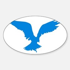 Hawk-white-outline Decal