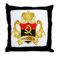 Gold1Angola1 Throw Pillow