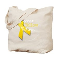 trans_i_wear_yellow_for_my_mom Tote Bag
