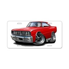 1966 Coronet Red Car Aluminum License Plate