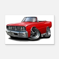 1966 Coronet Red Convertible Rectangle Car Magnet