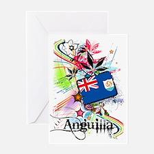 flowerAnguilla1 Greeting Card