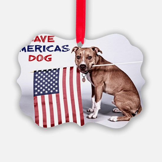 Save Americas Dog Ornament