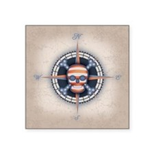 "compass-flag-sk-BUT Square Sticker 3"" x 3"""