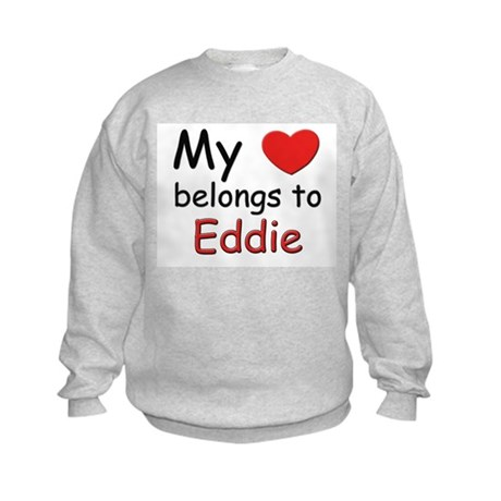 My heart belongs to eddie Kids Sweatshirt