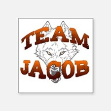 "2-team jacob wolf copy Square Sticker 3"" x 3"""
