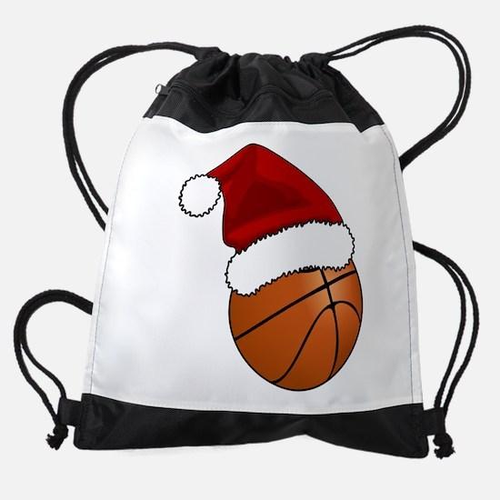 Christmas Basketball Drawstring Bag