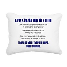 blue_suicide_stats Rectangular Canvas Pillow