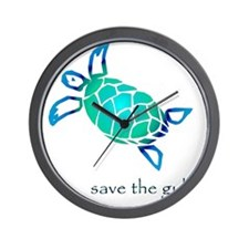 turtle-pap-blue-grad Wall Clock