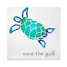 turtle-pap-blue-grad Queen Duvet