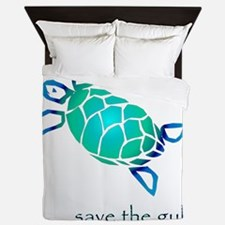 turtle-pap-blue-grad Queen Duvet