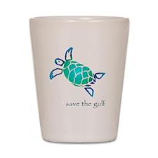turtle-pap-blue-grad Shot Glass