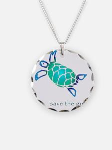 turtle-pap-blue-grad Necklace Circle Charm