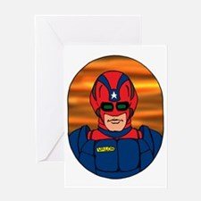 CAPTAIN VALOR IMAGE Greeting Card