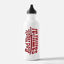 RedNeck_Samurai_vertic Water Bottle