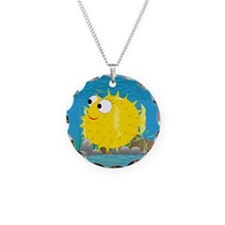 2-puffy_fish_yellow Necklace