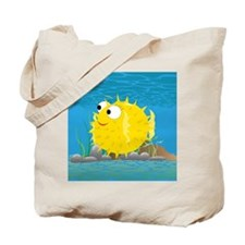 2-puffy_fish_yellow Tote Bag