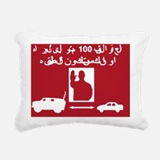 2-isaf-stayback-no-back- Rectangular Canvas Pillow