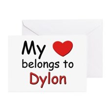 My heart belongs to dylon Greeting Cards (Package