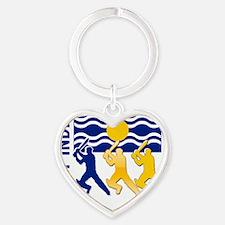 Cricket West Indies Heart Keychain