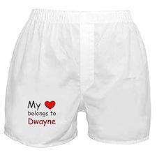 My heart belongs to dwayne Boxer Shorts