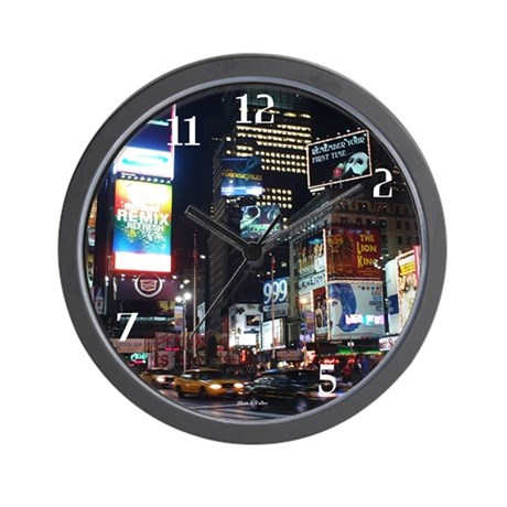 clock_tm-sq-night-modern Wall Clock
