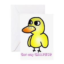 Duck (strait forward) 7 Greeting Card
