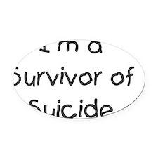 kids_survivor_of_suicide Oval Car Magnet