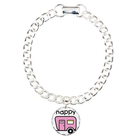 happy camper Charm Bracelet, One Charm