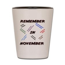 remember Shot Glass