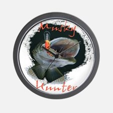 Musky Hunter Wall Clock