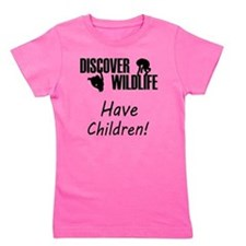 35-A-UN-W Discover Wildlife Have Childr Girl's Tee