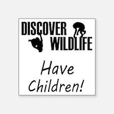 """35-A-UN-W Discover Wildlife Square Sticker 3"""" x 3"""""""