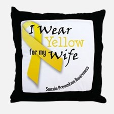 i_wear_yellow_wife Throw Pillow