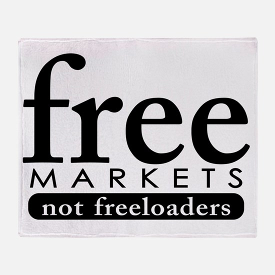 08-15_freemarkets Throw Blanket