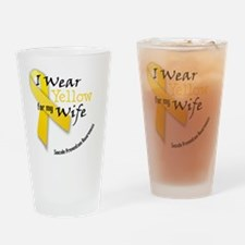 i_wear_yellow_wife Drinking Glass