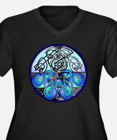 Celtic Drago Women's Plus Size Dark V-Neck T-Shirt