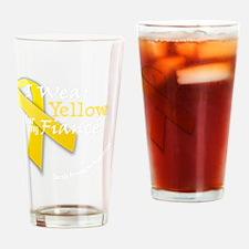 trans_i_wear_yellow_fiance Drinking Glass
