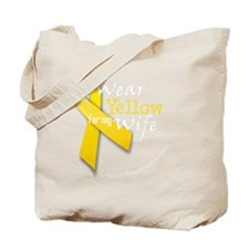 trans_i_wear_yellow_wife Tote Bag