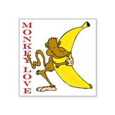 "hot monkey love Square Sticker 3"" x 3"""