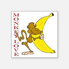 "hot monkey love Square Sticker 3"" x 3"""