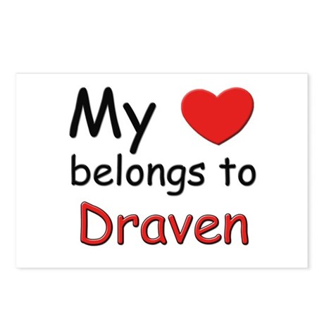 My heart belongs to draven Postcards (Package of 8
