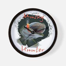 Muskie hunter Wall Clock