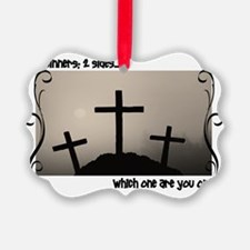3 Crosses Ornament