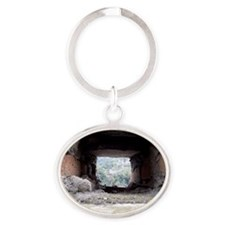 castles Oval Keychain