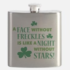 a face without freckles light Flask