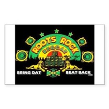 ROOTS ROCK REGGAE Rectangle Decal