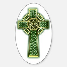 Celtic Cross 2 light Sticker (Oval)