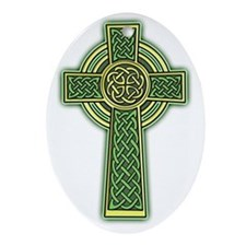 Celtic Cross 2 light Oval Ornament