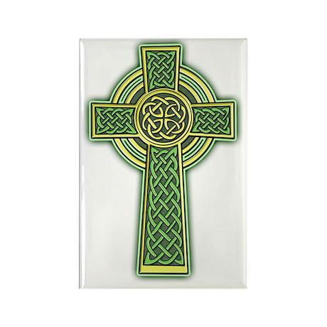 Celtic Cross 2 light Rectangle Magnet